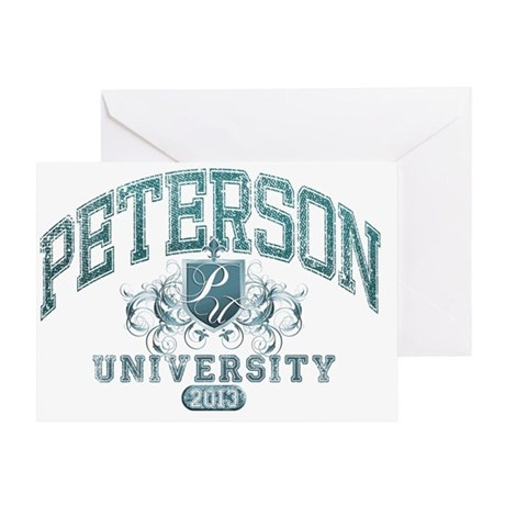 Peterson last name University Class Greeting Card
