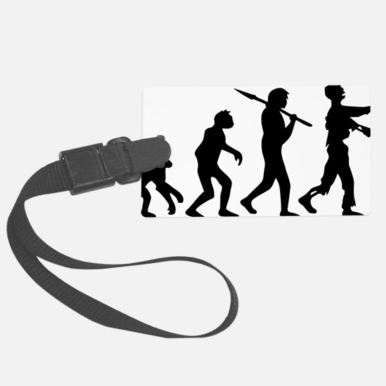 evolution_of_zombie Luggage Tag
