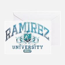 Ramirez last name University Class o Greeting Card