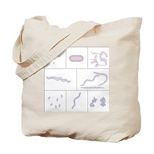 Bacteria shapes, artwork Tote Bag