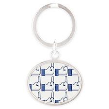 Offensive Facebook Button Shirt Oval Keychain