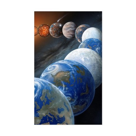 Formation of the Earth, artwor Sticker (Rectangle)