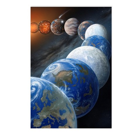 Formation of the Earth, a Postcards (Package of 8)