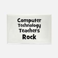 Computer Technology Teachers Rectangle Magnet