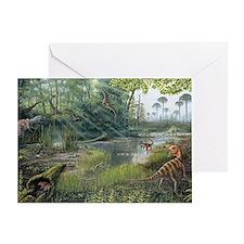 Jurassic life, artwork Greeting Card