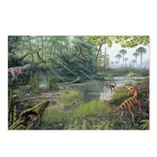 Jurassic life, artwork Postcards (Package of 8)