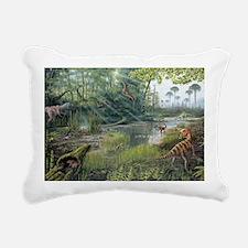 Jurassic life, artwork Rectangular Canvas Pillow