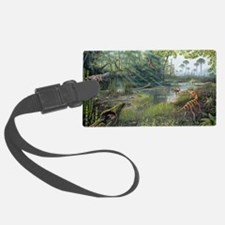 Jurassic life, artwork Luggage Tag