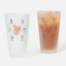Food poisoning bacteria, artwork Drinking Glass