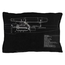 German WWII ramjet bomber blueprint Pillow Case