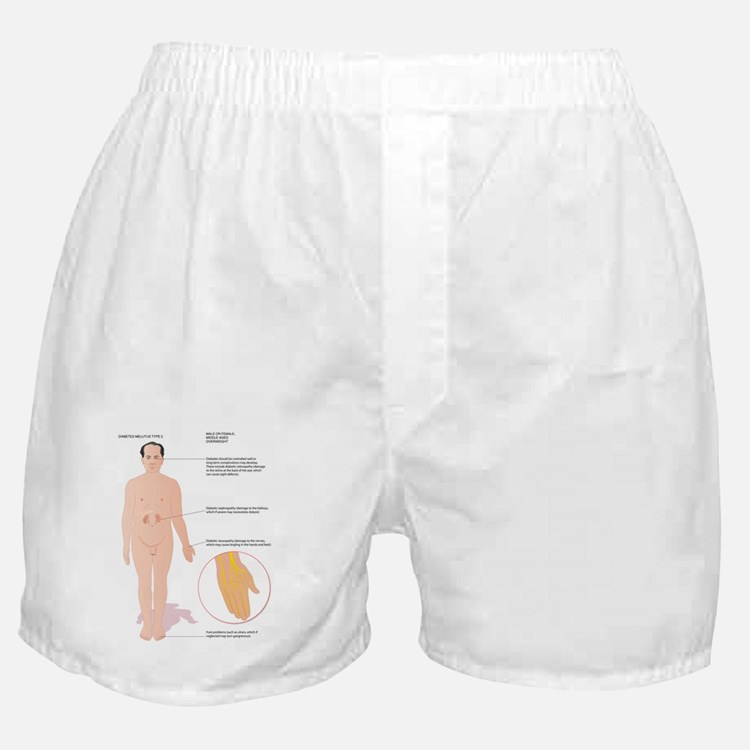 Diabetes complications, artwork Boxer Shorts