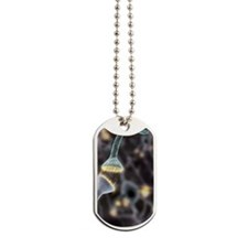 Nerve synapse, artwork Dog Tags
