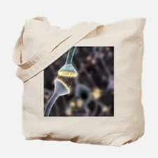 Nerve synapse, artwork Tote Bag
