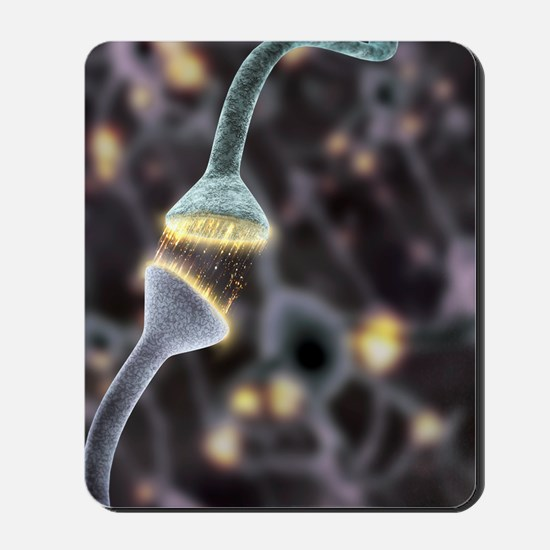 Nerve synapse, artwork Mousepad