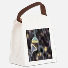 Nerve synapse, artwork Canvas Lunch Bag