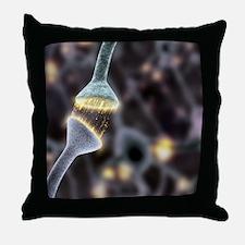 Nerve synapse, artwork Throw Pillow