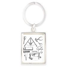 Scientific equipment, historical Portrait Keychain