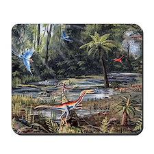 Cretaceous life, artwork Mousepad