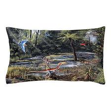 Cretaceous life, artwork Pillow Case