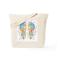 Reflexology foot map, artwork Tote Bag