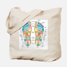 Reflexology foot map, artwork Tote Bag