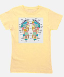 Reflexology foot map, artwork Girl's Tee