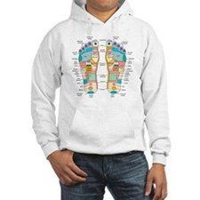 Reflexology foot map, artwork Hoodie