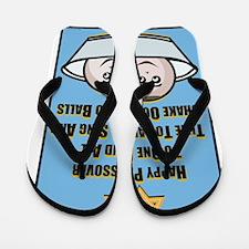 Happy Passover Matzo Flip Flops