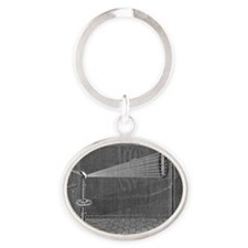 Visible light spectrum experiment Oval Keychain