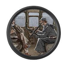 Sherlock Holmes and Dr. Watson Large Wall Clock