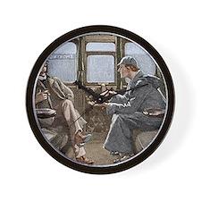 Sherlock Holmes and Dr. Watson Wall Clock
