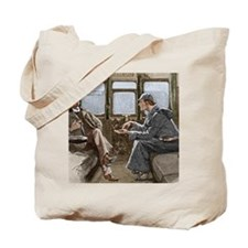 Sherlock Holmes and Dr. Watson Tote Bag