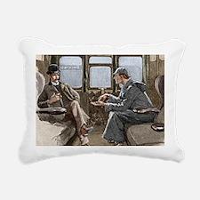 Sherlock Holmes and Dr.  Rectangular Canvas Pillow