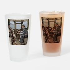 Sherlock Holmes and Dr. Watson Drinking Glass