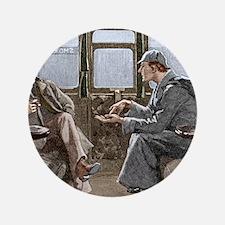 "Sherlock Holmes and Dr. Watson 3.5"" Button"