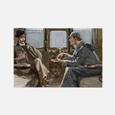 Sherlock Holmes and Dr. Watson Rectangle Magnet