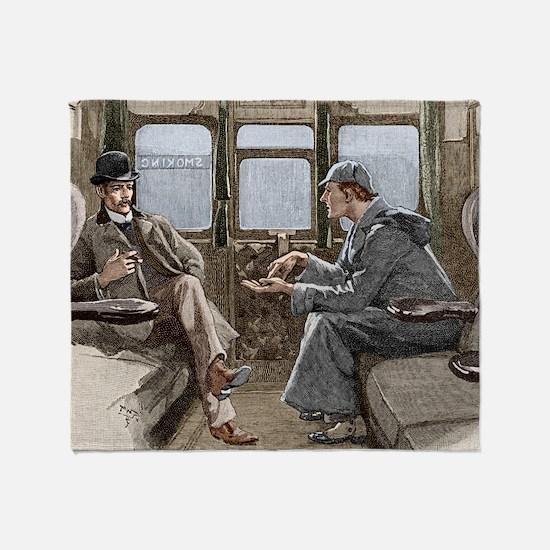 Sherlock Holmes and Dr. Watson Throw Blanket