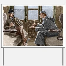 Sherlock Holmes and Dr. Watson Yard Sign