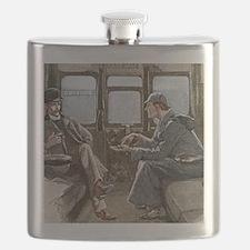 Sherlock Holmes and Dr. Watson Flask