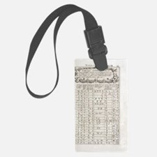 Linguistics table, 17th century Luggage Tag