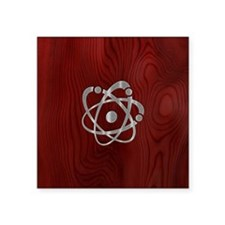 "atom-steelwood-PHNz Square Sticker 3"" x 3"""