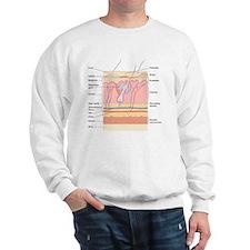 Skin disorders, artwork Sweatshirt