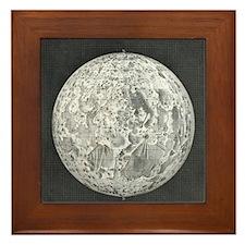 Lunar map of 1854 Framed Tile