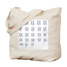 Male Down's syndrome karyotype, artwork Tote Bag