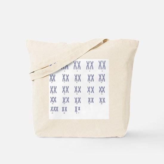 Male Down's syndrome karyotype, artwork Tote Bag