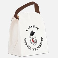 lone star westie  Canvas Lunch Bag