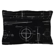 German WWII ramjet engine blueprint Pillow Case