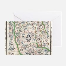 Historical Chinese map Greeting Card