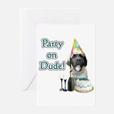 Mastiff Party Greeting Cards (Pk of 10)