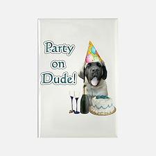 Mastiff Party Rectangle Magnet